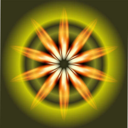 fire circle: Ray fire circle Burst on dark green Background vector