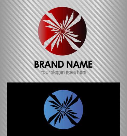 Round rays vector logo logotype icon Vector