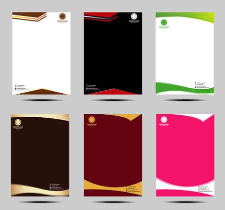 hojas membretadas: Conjunto de letra de estilo de negocios cabeza plantillas de diseño