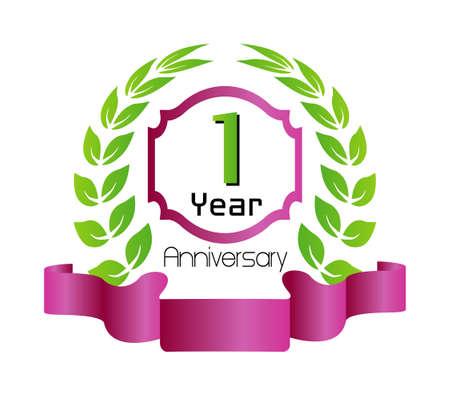 1 year anniversary: 1 year birthday celebration, 1th anniversary