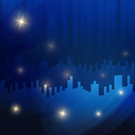 emitter: Abstract star blue Vector Background