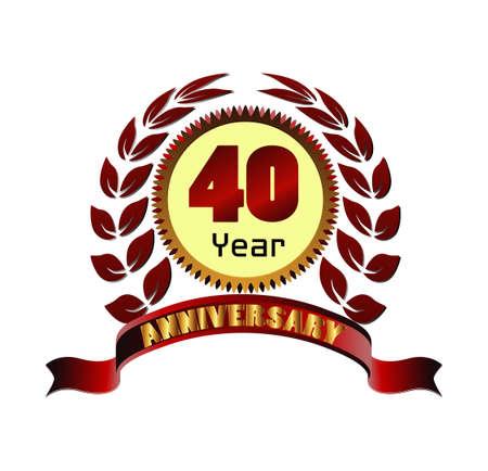 40 years: Laurel wreath 40 years anniversary
