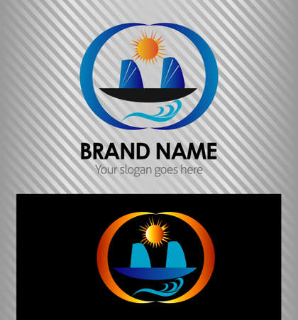 unfriendly: Corporate Identity Branding Eco home sign vector logo design template