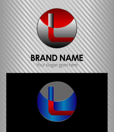 l: Vector illustration of abstract icons based on the letter L  Illustration