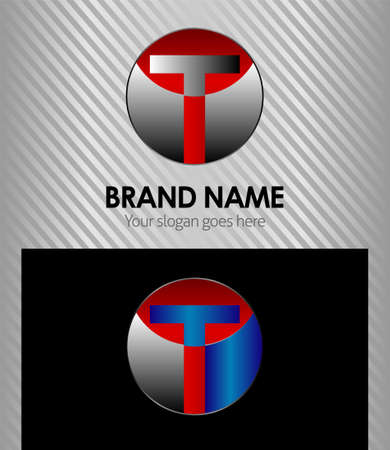 Letter T symbol template elements Vector