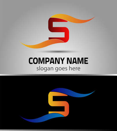 s curve: Corporate S Letter icon company vector design template