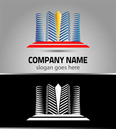 construction company: Hotel logo Building office company icon, urban city icon