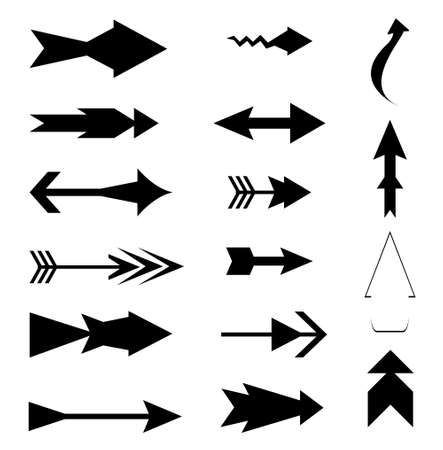 Arrow icon element set, arrow symbol collection Vector