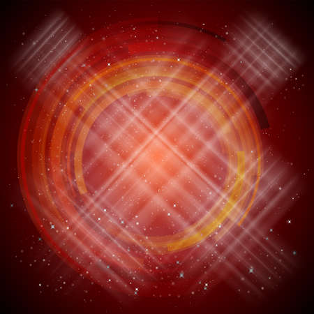 red abstract background: Red Abstract background with stars. Vector illustration