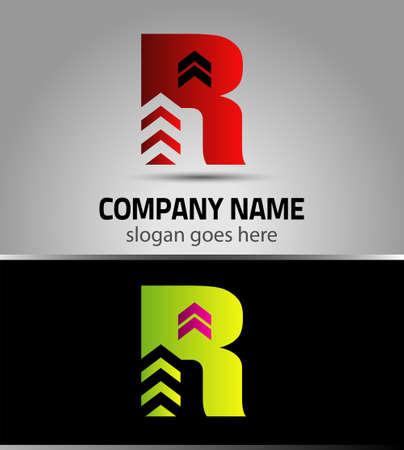 r: Letter R vector alphabet shape. R concept type as icon