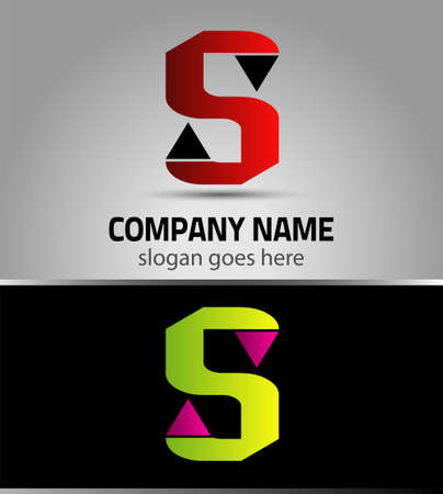 Letter S vector alphabet shape. S concept type as icon