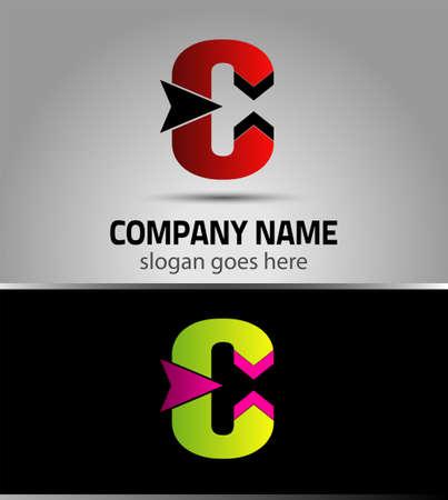 c to c: Letter C vector alphabet shape. C concept type as icon