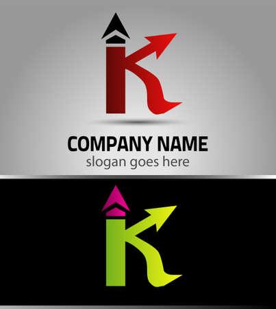 buchstabe k: Buchstabe K Symbol Design-Vorlage Elemente