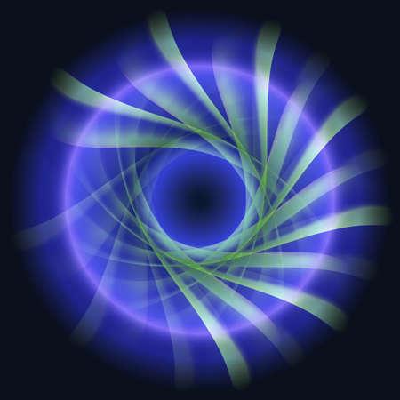 Dark Blue Twirl Background
