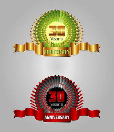 30 years Anniversary celebration set Vector