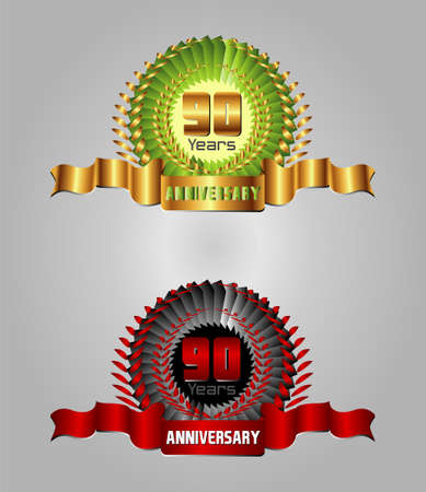 90 years: 90 years Anniversary vector celebration