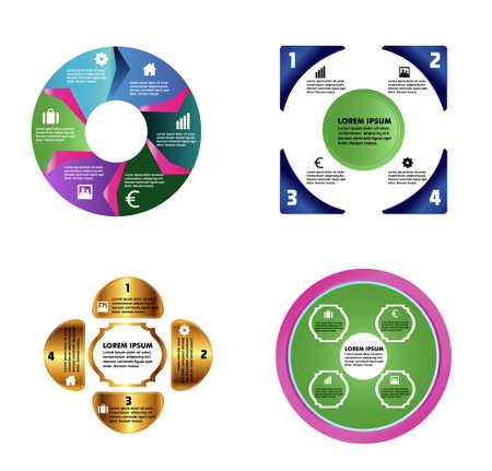 determinants: Infographics design element set