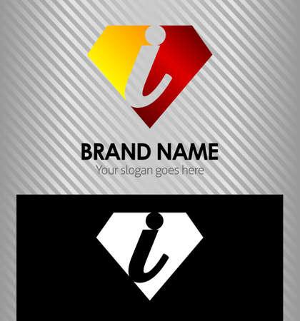 letter i: Letter I logo icon design template elements