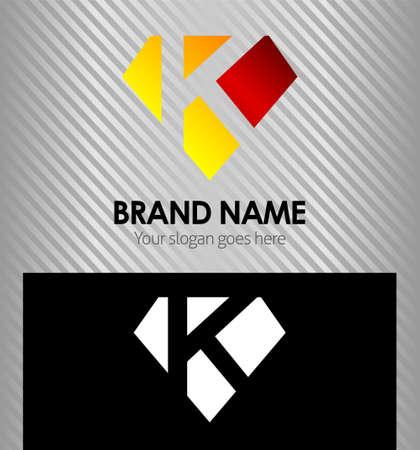 buchstabe k: Buchstabe K Logo Icon Design-Vorlage Elemente Illustration