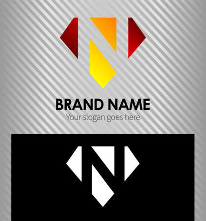 Letter N logo icon design template elements Illusztráció