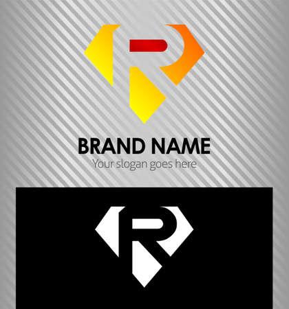 r: Letter R logo vector alphabet shape concept type as logo r