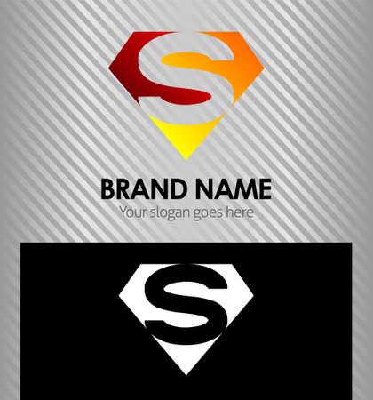 Letter S logo vector alphabet shape concept type as logo s Illustration