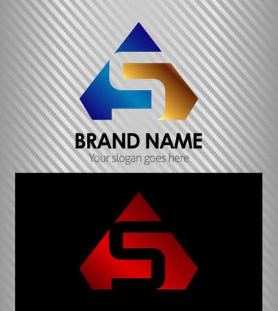 ikony: Litera S wektor ikona logo Ilustracja