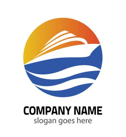 OceanShip vector logo concept. Zeeschip Vector logo template