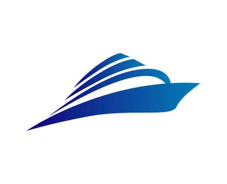 logotipo turismo: Cruise vector logo