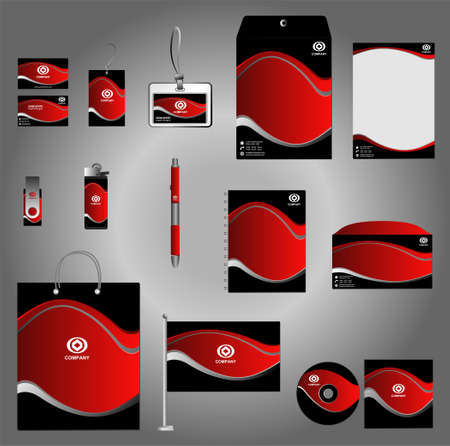Stationery set design Corporate identity design template vector Stationery