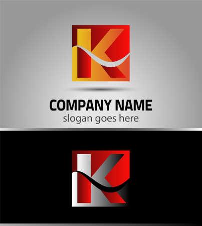 letter k: Vector illustration of abstract icons based on the letter K logo Illustration