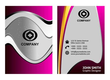 textfield: Vector vertical business card