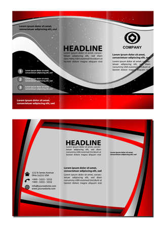 layout design template: Trifold technology Style Brochure Layout Design Template