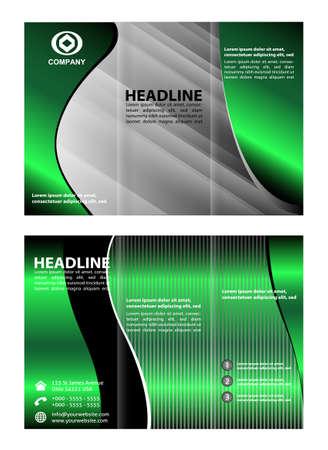 tri fold: Tri fold template Illustration