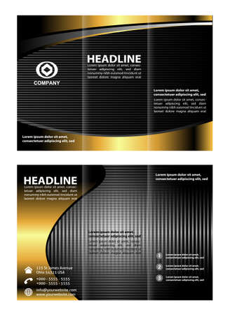 tri fold: Tri fold brochure template vector Illustration