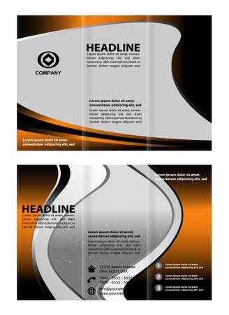 invitation barcode: Tri-Fold Travel Brochure Design Mock Up