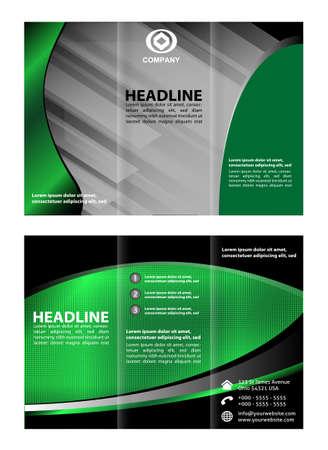 invitation barcode: Tri fold brochure template