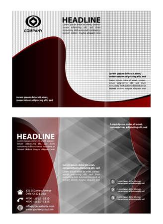 fold: Tri fold brochure template