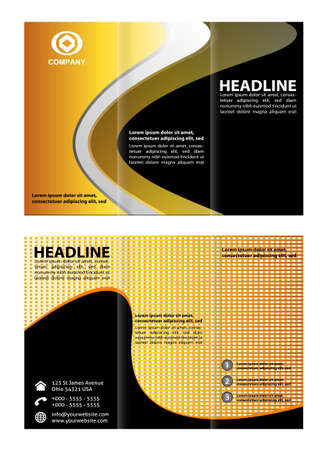 tri fold: Tri fold brochure template