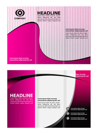 TriFold Brochure Design Vector Leaflet Corporate Cover Template - Tri fold brochure design templates