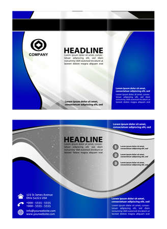 tri fold: Tri fold brochure template business