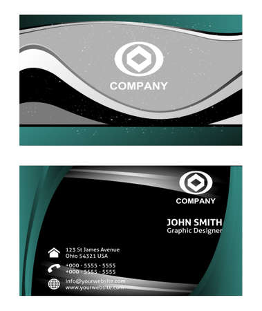 business cards: Horizontal abstract business cards