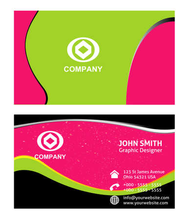 business card: Vector - business card set