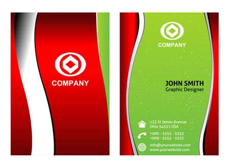 business card: Modern Business Card design Illustration