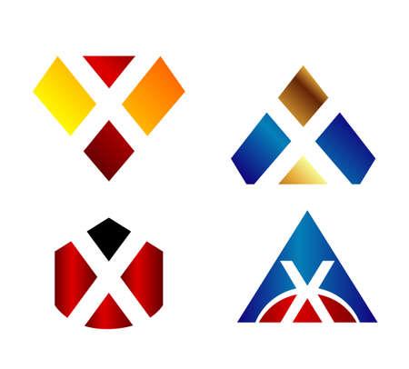 xy: Letter x logo design template elements icon set