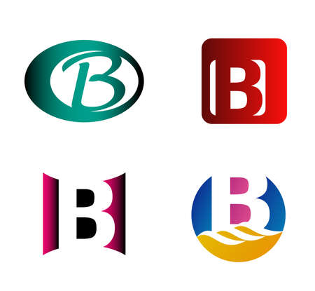 letter b: Letter B template. Abstract icon
