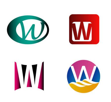 letter w: Letter W design template elements icon
