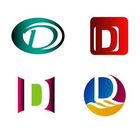 d: Letter D template. Abstract icon Illustration