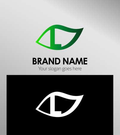 typesetter: Design Concepts Leaf icon. Letter L