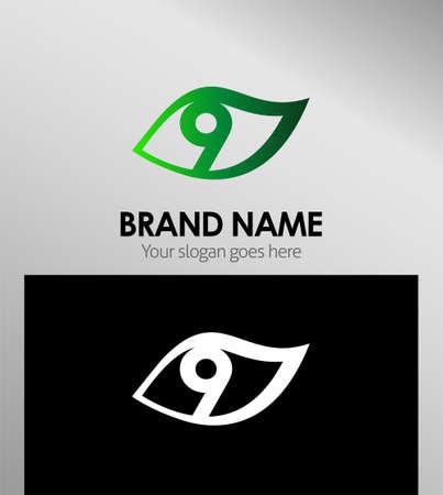 numero nueve: Icono del vector de signo de número nueve
